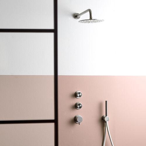 set de ducha empotrable de pared / de pared / moderno / para hotel