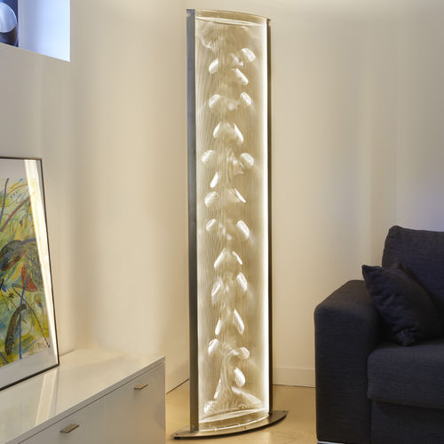 Columna luminosa moderna / acero inoxidable / LED / de interior WING N°32 Thierry Vidé Design