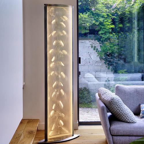 columna luminosa moderna / acero inoxidable / LED / de interior