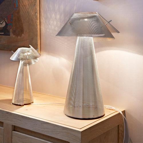 Lámpara de mesa / moderna / de acero inoxidable pulido / halógena WHIRLWIND N°17 Thierry Vidé Design
