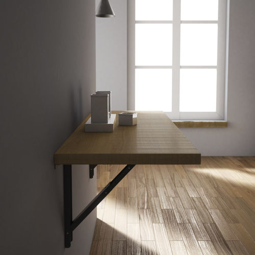 mesa moderna / de vidrio / rectangular / plegable