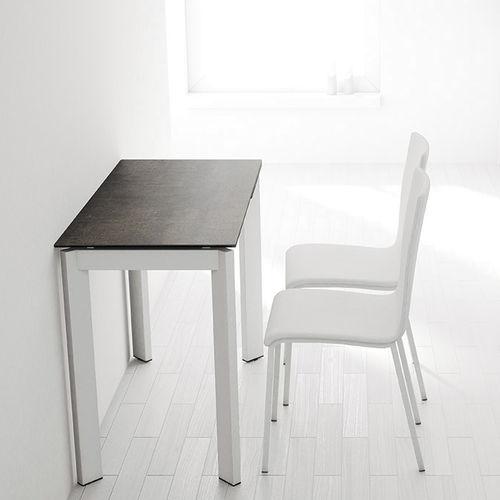 mesa moderna / de policarbonato / rectangular / extensible