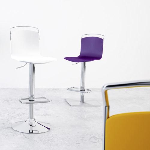 silla de bar moderna / ajustable / con base central / de tela resistente al agua