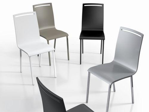 silla moderna / de metal / de cromo
