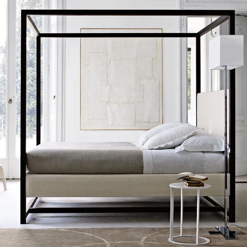 cama con dosel / de matrimonio / moderna / de roble