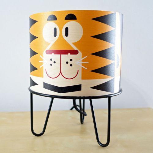 lámpara de mesa / moderna / de metal / de papel
