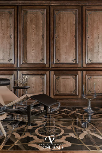 panel decorativo de madera / de madera maciza / de pared / texturado