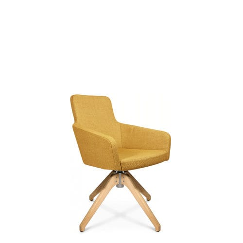 sillón de visita moderno / de tejido / con reposabrazos / tapizado