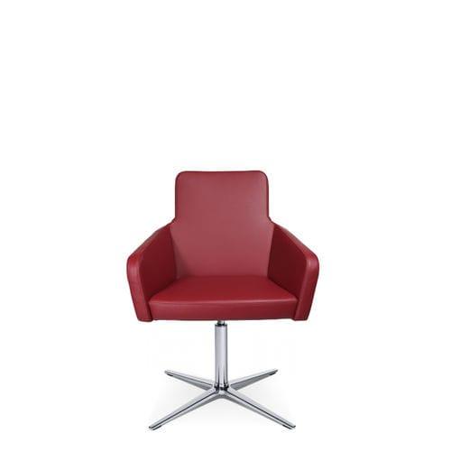 sillón de visita moderno / de tejido / de cuero / con reposabrazos
