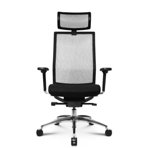sillón de oficina moderno / de malla / de cuero / con ruedas