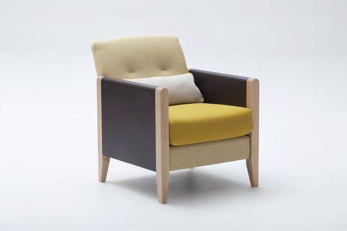 sillón moderno / de haya