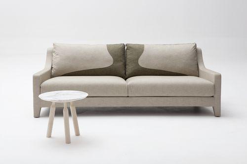 sofá moderno / de tejido / 3 plazas / beis