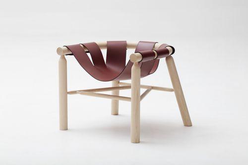 sillón moderno / de fresno