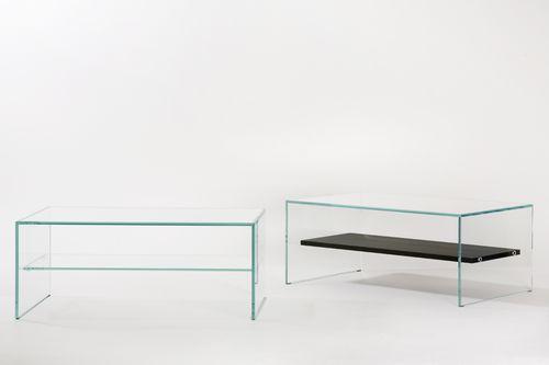 mesa de centro moderna / de vidrio / de roble / rectangular