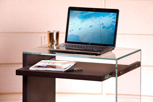 escritorio de roble / de vidrio / moderno