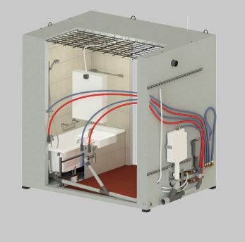 Módulo prefabricado para cuarto de baño - CUBIK® - HYDRODISEÑO