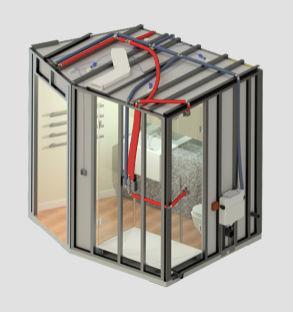 Módulo prefabricado para cuarto de baño - CUBIK® STEEL - HYDRODISEÑO