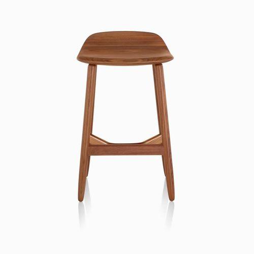 silla de bar moderna / con reposapiés / de malla / de madera