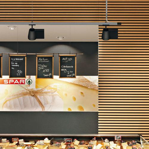 Iluminación sobre riel LED / redonda / de aluminio fundido / profesional FACTOR CONICAL by EOOS ZUMTOBEL