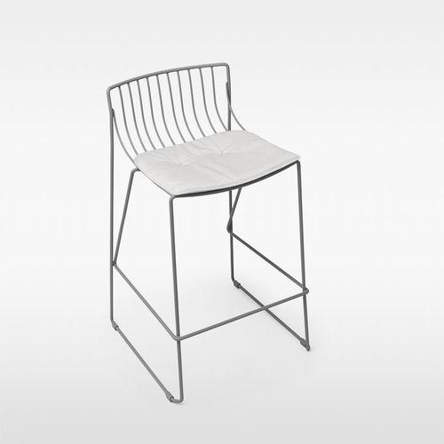 silla de bar moderna / con cojín amovible / de metal