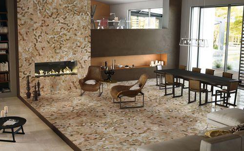 Baldosa de suelo / de mármol / con motivos geométricos / con motivos de la naturaleza ANEMONE by Raffaello Galiotto Lithos Design