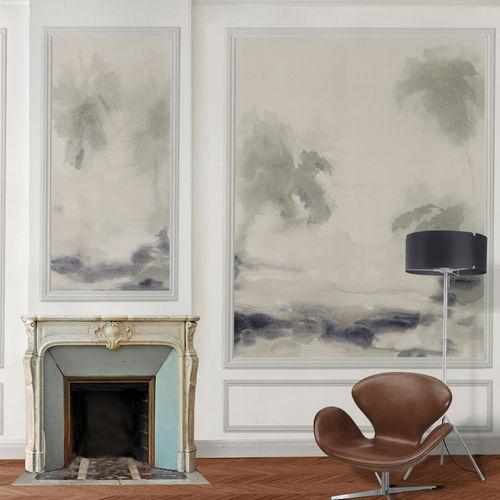 Papeles pintados clásicos / de algodón / con motivos de la naturaleza / pintados a mano OASIS BuenaVentura