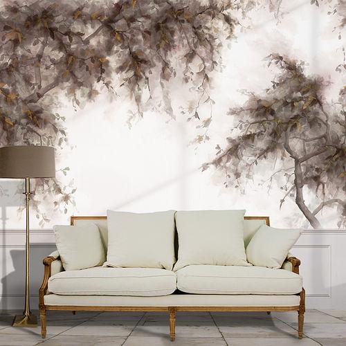 Papeles pintados clásicos / de algodón / con motivos de la naturaleza / pintados a mano BAUHINIA BuenaVentura