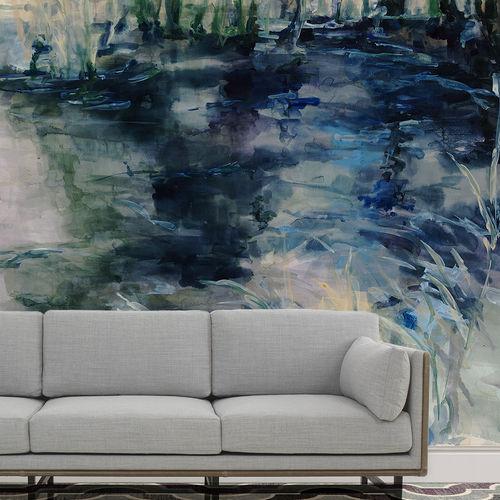 Papeles pintados personalizados / modernos / de algodón / con motivos de la naturaleza WATER REFLECTIONS BuenaVentura
