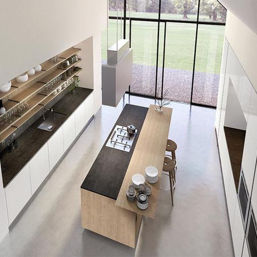 cocina moderna / de pizarra / de acero inoxidable / de acero