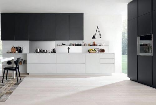 cocina moderna / de vidrio / de aluminio / de aluminio lacado