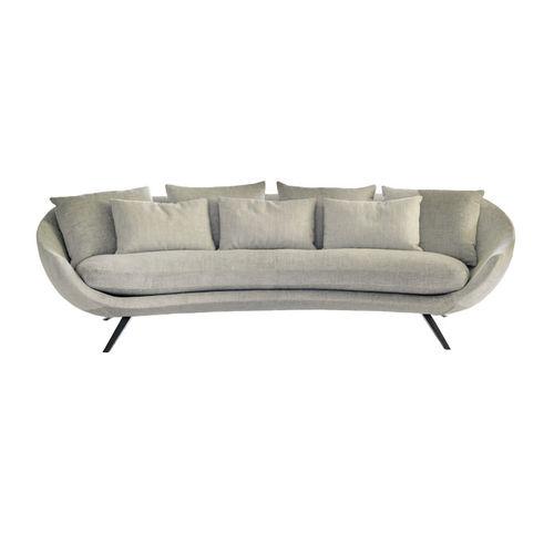 sofá moderno / de tejido / 2 plazas / marrón