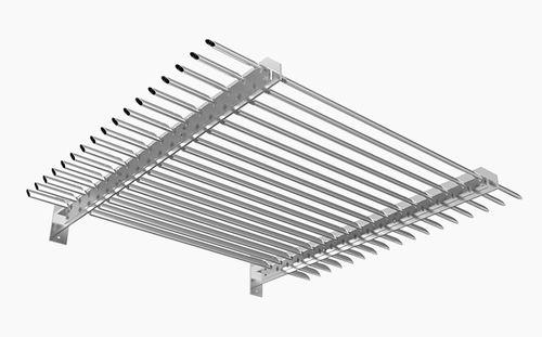 Celosía con lamas de aluminio / para fachada / para techado / para ventana SONAL D : HS-H-080-FH MLL-Hamburg