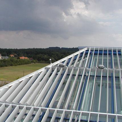 Celosía con lamas de aluminio / para fachada / para techado / para ventana HB-H-200-ND-00 MLL-Hamburg