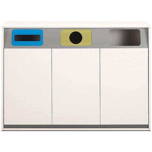 cubo de basura de metal / de reciclaje / para oficina
