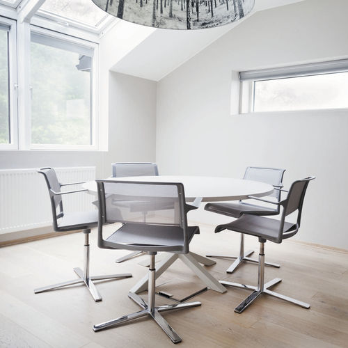 silla de conferencia tapizada - Wilkhahn