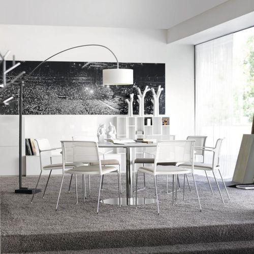 Silla de visita moderna / con reposabrazos / tapizada / apilable ALINE by Andreas Störiko Wilkhahn