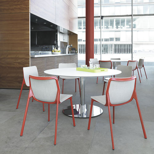 mesa bistró moderna / de HPL / redonda / cuadrada
