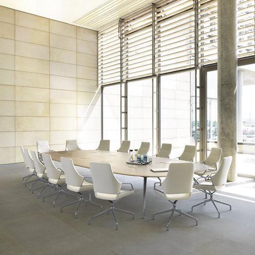 Mesa de conferencia moderna / de madera / ovalada / curvada GRAPH by Jehs+Laub Wilkhahn