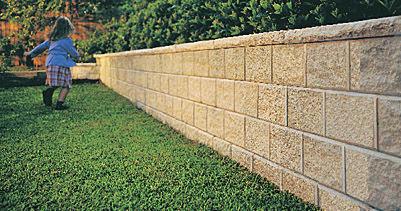 Bloque de hormign macizo para muro de contencin para valla de