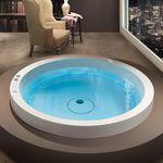 bañera redonda / de fibra acrílica / hidromasaje / de Marc Sadler