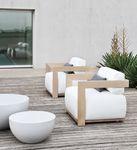 Sillón moderno / de madera / de jardín / de interior/de exterior CLAUD   MERIDIANI
