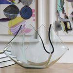 florero moderno / de vidrio deslustrado
