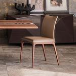 silla moderna / de tela / de haya / de nogal