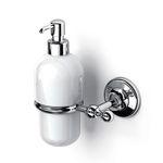 dispensador de jabón para el sector servicios / de pared / de metal / de cerámica