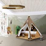 cama estándar / simple / de diseño original / de madera