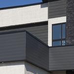revestimiento de fachada de aluminio / liso / en láminas / aspecto madera