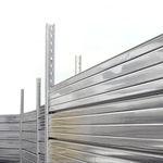 valla para obra / con paneles / de acero galvanizado / modular