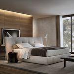 cama doble / estándar / moderna / de tela