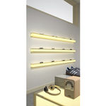 estantería mural / moderna / de aluminio / para el sector servicios