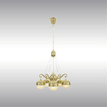 Lámpara araña moderna / de latón / a medida / de Josef Hoffmann 21604 by Wiener Werkstaette Woka Lamps Vienna